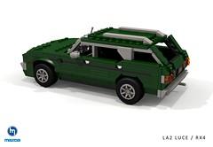 Mazda RX4 / Luce Rotary Wagon (LA2) - 1973 (lego911) Tags: mazda luce la2 rx4 wageon estate 1973 1970s classic cokebottle wankel rotary 12a 13b auto car moc model miniland lego lego911 ldd redner cad povray afol jdm japanese japan render