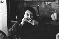 Nita (songhula) Tags: black white canon ae 1 film japanese camera hunter portrait