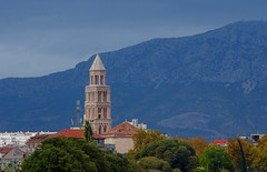Split skyline (sfryers) Tags: cathedral belltower oldtown mountains split dalmatia croatia hrvatska carlzeiss jena 135mm 135 m42