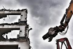 Don't worry, St. George is on his way. (robert.freitag) Tags: nikon nikond7200 sigma sigma1770 dragon drachen concrete beton demolition abriss