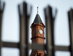 A clock with no hands (zubzubadoodle) Tags: pentaxks1 smcm50mmf2 clock middlesbrough