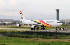 Air Belgium Airbus A340-313 OO-ABA (RuWe71) Tags: airbelgiumsa airbelgium kfabb belgium airbus airbusa340 a340 a343 a340300 a340313 airbusa340300 airbusa340313 ooaba msn835 fwwjg ohlqb parisroissy roissycharlesdegaulle parischarlesdegaulle parischarlesdegaulleairport lfpg cdg aéroportsdeparis widebody winglets tug towtruck tower