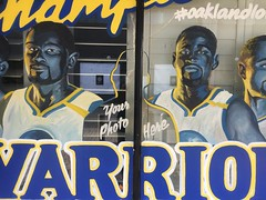 We Are The Champions (misterbigidea) Tags: warriors goldenstate oakland painted portrait selfie yourphotohere basketball championship brushwithgreatness lettering