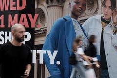 1 May (jhnmccrmck) Tags: blurred street advertising melbourne victoria bourkestreet people pedestrians fujifilm fujifilmxt1 xt1 xf1855mm classicchrome explore iminexplore