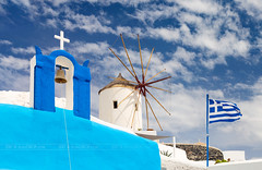 _MG_0054 - Typical Greek (AlexDROP) Tags: 2017 europe greece santorini greek travel color city urban daylight belfry architecture orthodox mill flag canon6d ef241054lis best iconic famous mustsee picturesque postcard