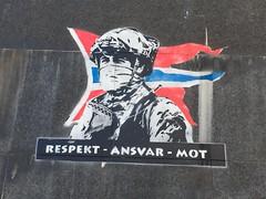 Respekt - Ansvar - Mot (svennevenn) Tags: joy stencils gatekunst streetart bergen soldiers norge norway