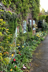 Flower Bed (Croydon Clicker) Tags: cottage house building home door window ivy flowers listed gradeii otford kent