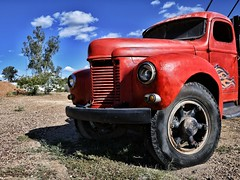 old faithful (gro57074@bigpond.net.au) Tags: oldfaithful landscape f80 2470mmf28 tamron d850 nikon guyclift nsw country australia countrynsw outback opalmining truck color colour vivid red lightningridge