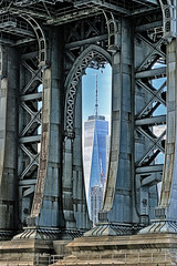 Framed (katiegodowski_photography) Tags: framed bridge wtc brooklyn flickr flickrcentral photography pics photographer photoshop outdoor frame outside nyc architecture artistic artsy