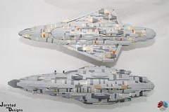 DSC_1485 (Jorstad Designs, LLC) Tags: lego star wars rebel alliance fleet mon calamari scale moc ucs jorstad designs llc mc80a mc80b home one liberty cruiser class hammerhead corvette mc30c frigate dp20 blockade runner