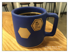Good Coffee in a Good Cup (Doyle Wesley Walls) Tags: lagniappe 9398 coffee java cup color blue iphonephoto beautiful americano doylewesleywalls cupofjoe beverage drink caffeine libation