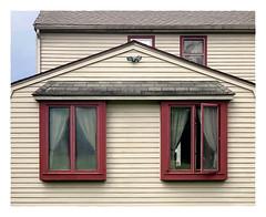 Open and Shut (Timothy Valentine) Tags: wednesday 0419 window house h 2019 curtain 31barnstableroad norfolk massachusetts unitedstatesofamerica