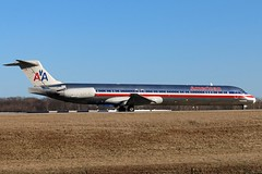 N9616G American MD-83 at KCLE (GeorgeM757) Tags: n9616g american md83 mcdonnelldouglas aircraft aviation airplane airport kcle georgem757 canon70d 24r twa