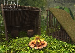 {LORE} Lean-To (LalaLamour) Tags: fantasy faire secondlife lore sl homegarden