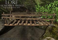 {LORE} Homemade Bridge (LalaLamour) Tags: fantasy faire secondlife lore sl homegarden