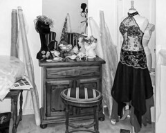 Couturier Tailleur (thierrybalint) Tags: mannequin model hautecouture couture couturier taylor mode fashion sewing tissu fabric balint thierrybalint nb bw tailleur atelier workshop