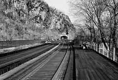 Harpers Ferry , West Virginia (poavsek) Tags: potomac river west virginia train film leica summicron 50mm rigid