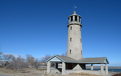 Lake Minatare Lighthouse - Nebraska (Jeffrey Neihart) Tags: jeffreyneihart nikon1855mm nikond5100 lighthouse mock lake minatare campground camping fake veteransconservationcorps 1939 northplattenationalwildliferefuge
