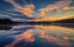 Tuastadvatnet, Norway (Vest der ute) Tags: g7x norway rogaland røyksund water waterscape landscape lake reflections mirror sky clouds trees sunrise earlymorning summer fav25 fav200