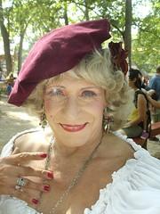 Old Lady With Twinkle In Her Eye :) (Laurette Victoria) Tags: digital woman laurette bristol renfaire wisconsin hat blonde necklace earrings costume