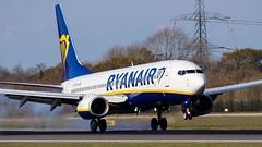 Ryanair Boeing 737-8AS (ianclarke82) Tags: 7378as 737nextgen boeing boeing737 ryanair avgeek aircraft airlines airliners aviationphotography aviation canon80d canonaviation manchester manchesterairport airport airfield pilot landing runway
