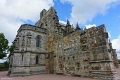 Going to the Chapel (gabi-h) Tags: rosslynchapel roslin scotland church architecture gabih stone clouds bluesky windows