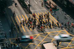 People and taxi cabs crossing a very busy crossroads in Tsim Sha Tsui district Hong Kong, China (MongkolChuewong) Tags: aerial asia asian blurred business busy central china chinese city cross crosswalk crowd crowded culture district downtown hong hongkong kong lady life many market modern mongkok motion pedestrian pedestrians people popular rain red road rush shopping speed store street summer taxi top traffic tsimshatsui umbrellas urban view walking zebra