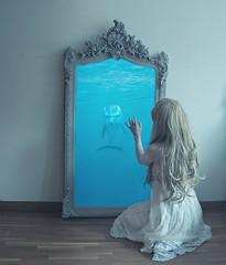 Dolphin dream (Sus Blanco) Tags: selfportrait conceptual dolphin surreal fantasy fineart dream canon