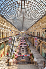 Inside the GUM (main universal store) in Moscow (KonstEv) Tags: gum moscow russia architecture building store mall redsquare structure design interior