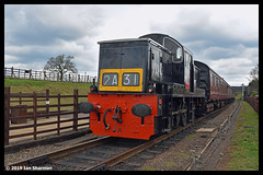 No D9537 14th April 2019 Great Central Railway Diesel Gala (Ian Sharman 1963) Tags: no d9537 14th april 2019 great central railway diesel gala class 14 teddy bear station engine rail railways train trains loco locomotive passenger loughborough quorn woodhouse rothley leicester north heritage line