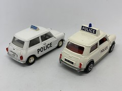 Dinky Toys Mini Cooper Police Car And Vitesse Morris Mini Police Car  - Miniature Diecast Metal Scale Model Emergency Services Vehicles (firehouse.ie) Tags: morrismini minis dinkytoys diecast car police mini vitesse dinky