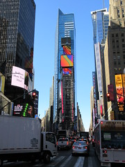 2019 Mood Lighting Number One Times Square Building 6791 (Brechtbug) Tags: 2019 mood lighting number one times square building morning with waterford crystal ball turned off its pole new york city looking south nyc broadway architecture eve holiday buildings signs year years ad electronic billboard 04242019