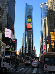 2019 Mood Lighting Number One Times Square Building 6789 (Brechtbug) Tags: 2019 mood lighting number one times square building morning with waterford crystal ball turned off its pole new york city looking south nyc broadway architecture eve holiday buildings signs year years ad electronic billboard 04242019