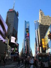 2019 Mood Lighting Number One Times Square Building 6785 (Brechtbug) Tags: 2019 mood lighting number one times square building morning with waterford crystal ball turned off its pole new york city looking south nyc broadway architecture eve holiday buildings signs year years ad electronic billboard 04242019