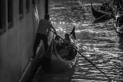 La gondole 1 (Eugenio GV Costa) Tags: approvato venezia gondola venice venise controluce bianconero