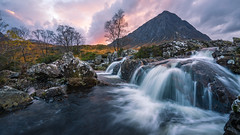 Stob Derg - When The Sunset Comes (stefanblombergphotography.com) Tags: 169 clouds colorful dramatic glencoe highlands hill hillside landscape light mountain mountainrange nature outdoor river rock scotland sky softlight stefanblombergphotography stone sunset tree water waterfall color wwwstefanblombergphotographycom