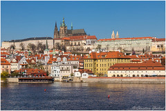 Praha (christian.grelard) Tags: bleu prague praha praga tourism travel tchèque vltava château castle history architecture river water český