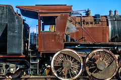 Silenced forever......... (Johann (Still Me!)) Tags: locomotive steam steamlocomotive stoomlokomotief rusty rust abandoned derelict voorbaai mosselbaai mosselbay railway johanndejager ef24105mmf4lisiiusm canoneos5dmarkiv decaying makemesmile
