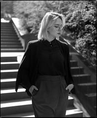 Elena (Denis Kostiuk) Tags: bw blackwhite beauty rb mamiya mediumformat model mamiyarb67 medium blond gerl portrait portret plener photography kodak tmax