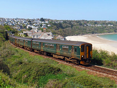 150234 & 150244 Carbis Bay (3) (Marky7890) Tags: gwr 150234 class150 sprinter 2a22 carbisbay railway cornwall stivesbayline train