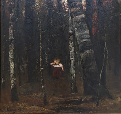 The Lost Child by M MUNKACSY 1873 119c (Andras Fulop) Tags: szolnok hungary canon art painting museum gallery exhibition lost child forest