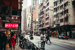 Old style of street (Scofield Chan) Tags: street old misty asia spring city urban building architecture oriental hongkong happyplanet asiafavorites