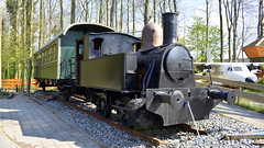 Old steamtrain preserved at a camp side in Wieringerwerf, The Netherlands (sirgunho) Tags: camping land uit zee wieringerwerf netherlands noor holland preserved vehicles old steamtrain camp side the