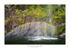 Rainbow Falls Milford Sound New Zealand (Dominic Scott Photography) Tags: dominicscott newzealand milfordsound waterfall waterfalls water rainbow sony a7r ilce7r