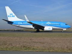 "PH-BGF, Boeing 737-7K2(WL), 30365 / 2714, KLM Royal Dutch Airlines (Koninklijke Luchtvaart Maatschappij), ""Grote Zilverreiger / Great White Heron"", fleet # GF-203, CDG/LFPG 2019-02-16, taxiway Alpha-Mike. (alaindurandpatrick) Tags: phbgf 303652714 737 737700 737nextgen boeing boeing737 boeing737700 boeing737nextgen jetliners airliners kl klm klmroyaldutchairlines koninklijkeluchtvaartmaatschappij airlines cdg lfpg parisroissycdg airports aviationphotography"