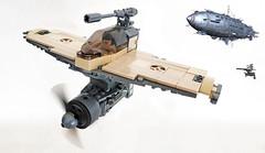 Dieselpunk embarked fighters (John C. Lamarck) Tags: aircraft plane avion fighter lego bricks dieselpunk imaginary carrier