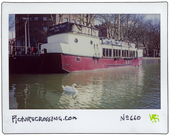 PX No. 660 (LANCEPHOTO) Tags: picturecrossing polaroid left streetart expiredfilm lostpolaroids instax instaxwide instax500af instantphotography fx bristol uk england water boat