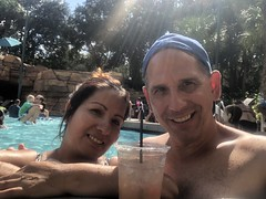 Relaxing by the pooll at the Dolphin Hotel in Disney World (Hazboy) Tags: selfie 2018 september florida disney hotel dolphin hazboy1 hazboy