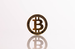 Golden Bitcoin with reflection on white background (wuestenigel) Tags: finance crypto cryptocurrency profit btc golden whitebackground business money investment economy bitcoin white symbol design desktop art kunst illustration noperson keineperson vector vektor disjunct disjunkt old alt image bild retro graphic grafik abstract abstrakt shape gestalten glazed glasiert