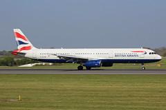 British Airways Airbus A321-231 G-EUXM MAN/EGCC 19/04/19 (bhx_flights) Tags: airport man manchester manchesterairport egcc britishairways airbus airbus321 airbusa321
